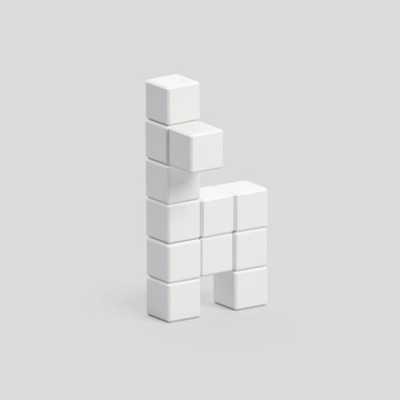 Pixio White Llama İnteraktif Mıknatıslı Manyetik Blok Oyuncak - Thumbnail