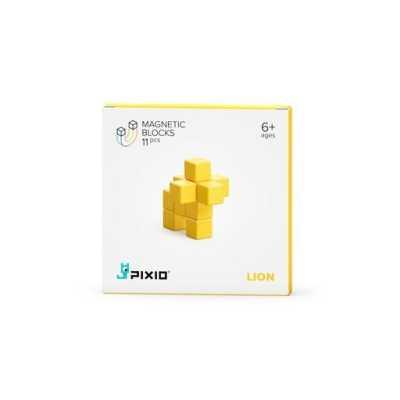 PIXIO - Pixio Yellow Lion İnteraktif Mıknatıslı Manyetik Blok Oyuncak