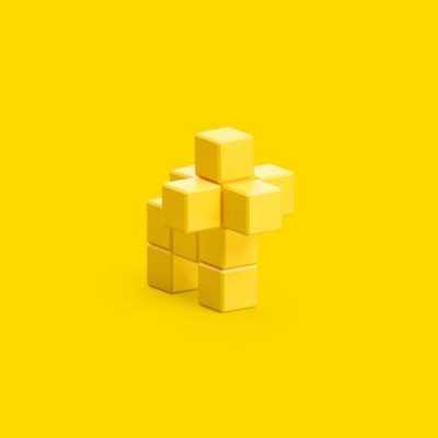 Pixio Yellow Lion İnteraktif Mıknatıslı Manyetik Blok Oyuncak - Thumbnail