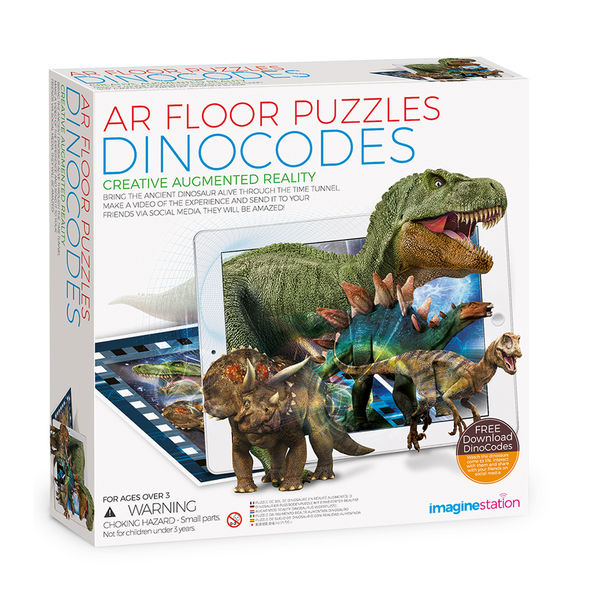 AR Floor Puzzles Dinocodes Aplikasyon Destekli Arttırılmış Gerçeklik Oyunu