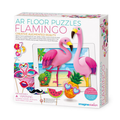 AR Puzzles - AR Floor Puzzles Flamingo Aplikasyon Destekli Arttırılmış Gerçeklik Oyunu