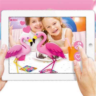 AR Floor Puzzles Flamingo Aplikasyon Destekli Arttırılmış Gerçeklik Oyunu - Thumbnail