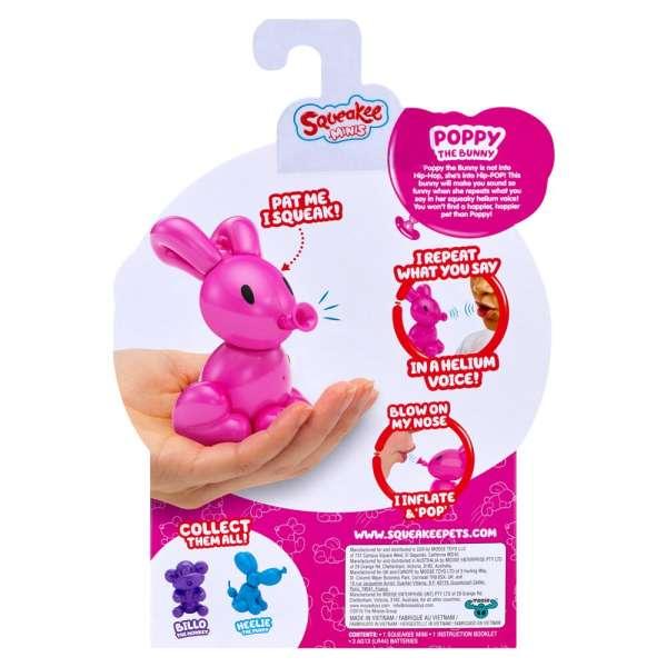 Squeakee Minis İnteraktif Balon Oyuncak Poppy The Bunny